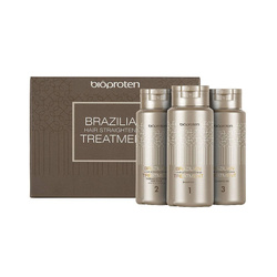 BIOPROTEN Brazilian Treatment Kit zestaw do prostowania włosów (szampon 100ml, maska 100ml, odżywka 100ml)