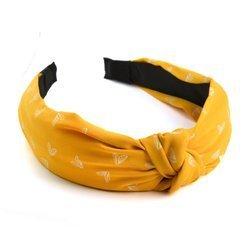 Opaska do włosów w serca (żółty)
