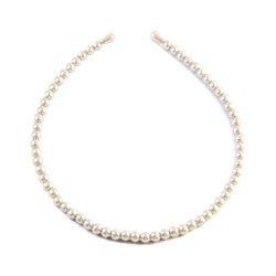 Opaska do włosów z koralików (perła)