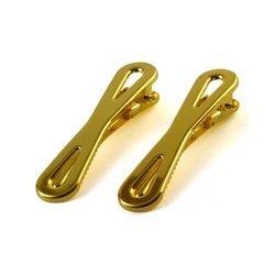 Spinka do włosów metalowa kokardka - 2 szt. (złoty)
